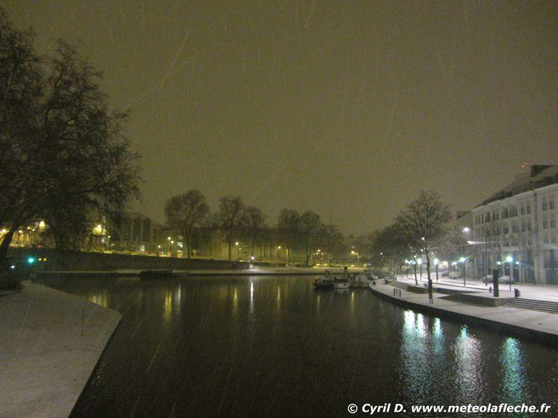 Pont Saint Mihiel sous la neige