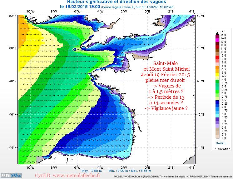 19 Fevrier 2015 meteo marine