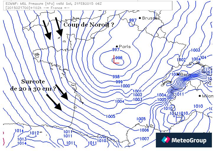 21 Fevrier 2015 maree 117 pression basse