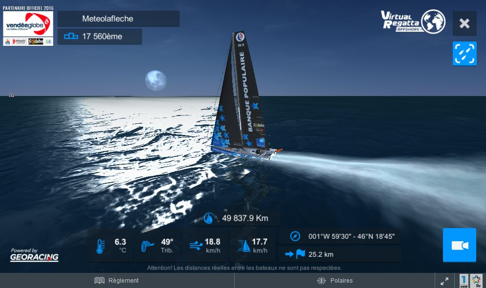 Nuit Lune Virtual Regatta