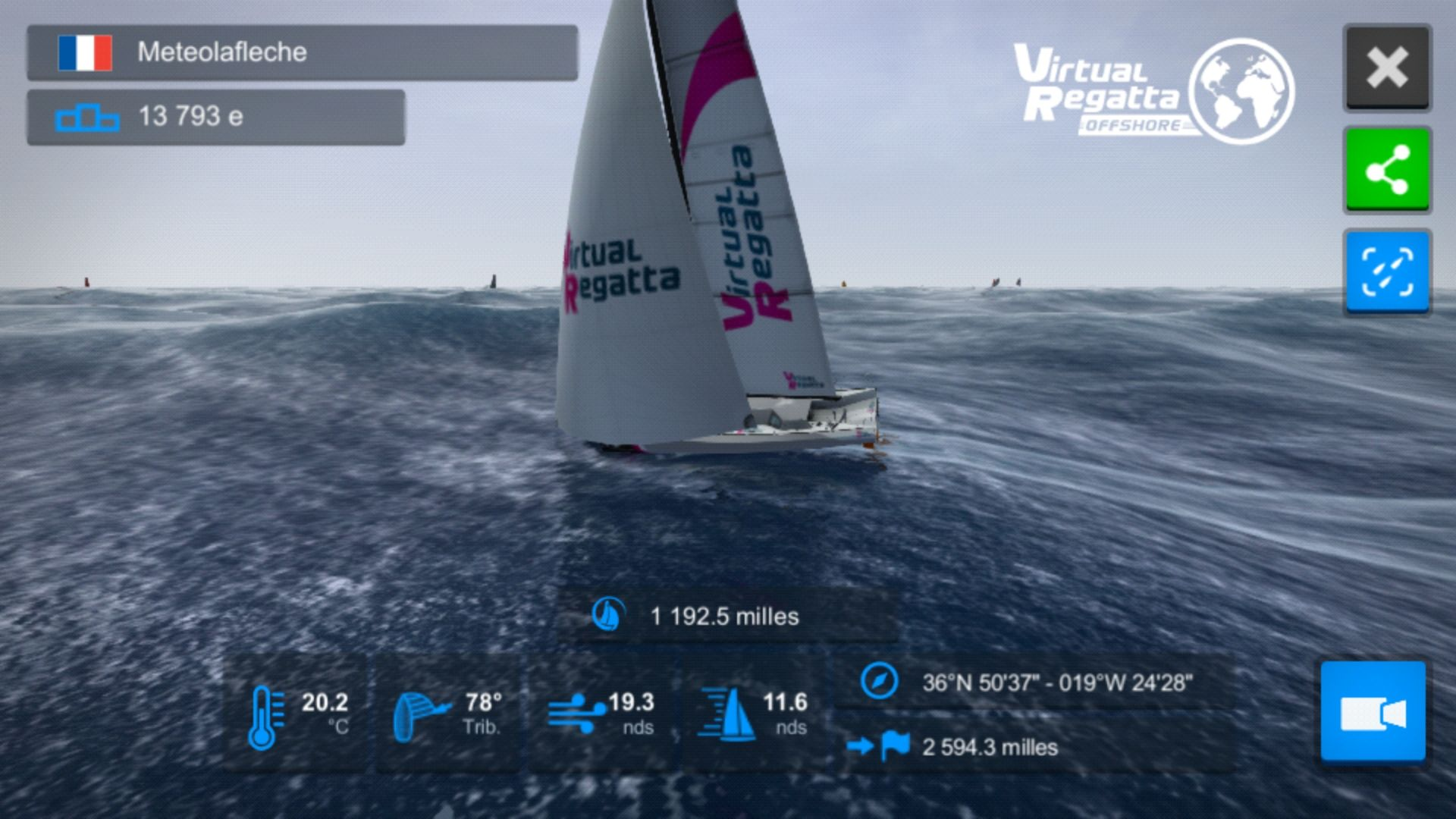 Participation Route du Rhum Virtual Regatta 2018