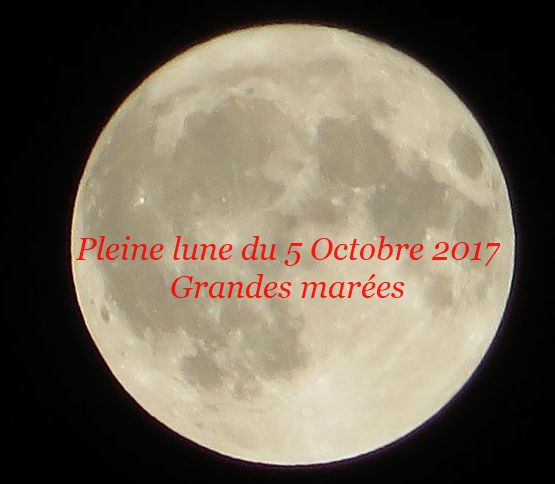 Pleine Lune Grandes marées 5 Octobre 2017