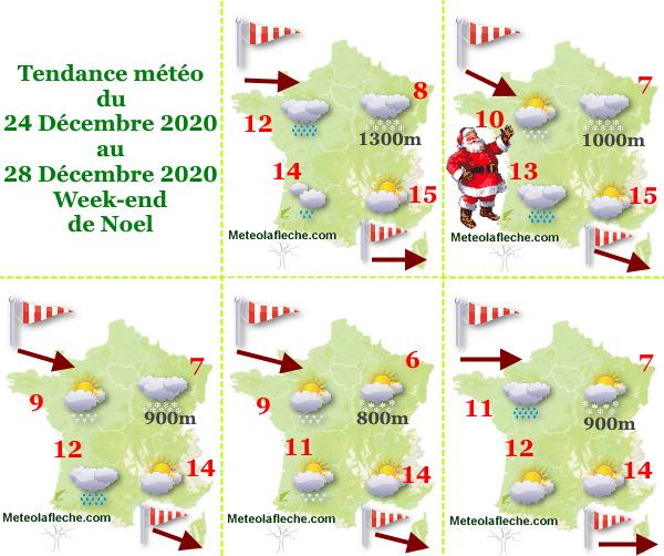 Météo Week-end de Noel 2020