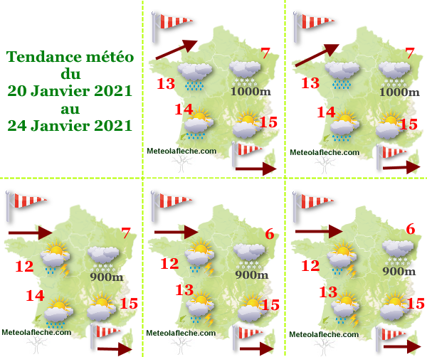 météo du 20 au 24 Janvier 2021