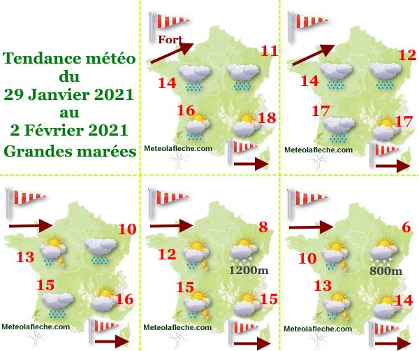 29 Janvier 2021 météo grandes marées