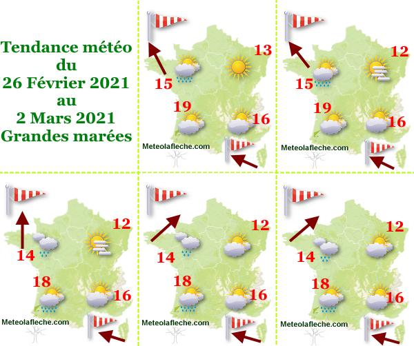 Météo 2 Mars 2021 France
