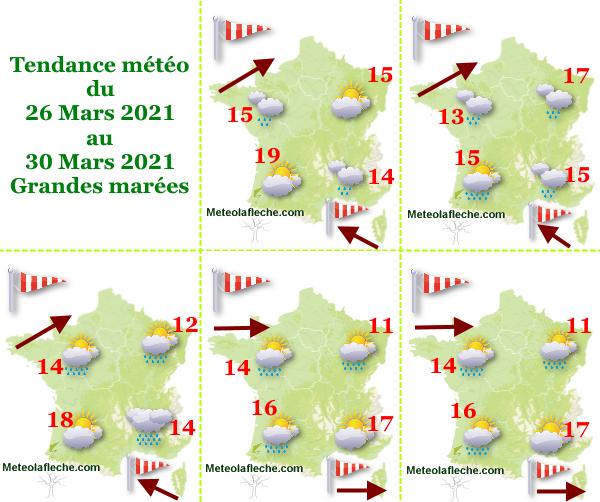 Météo du 26 au 30 Mars 2021 Grandes marées