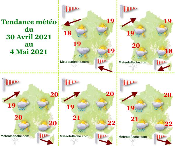 Météo du 30 Avril au 4 Mai 2021