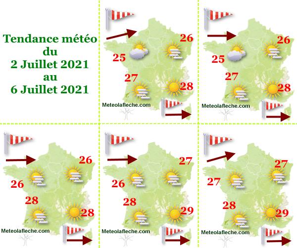 Météo du 6 Juillet 2021 en France