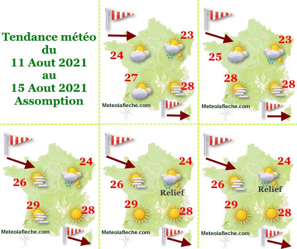 Météo 15 Aout 2021 Assomption