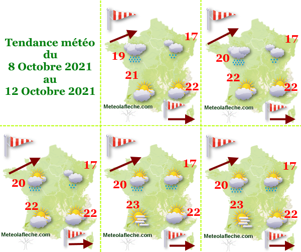 Météo 12 Octobre 2021 humide