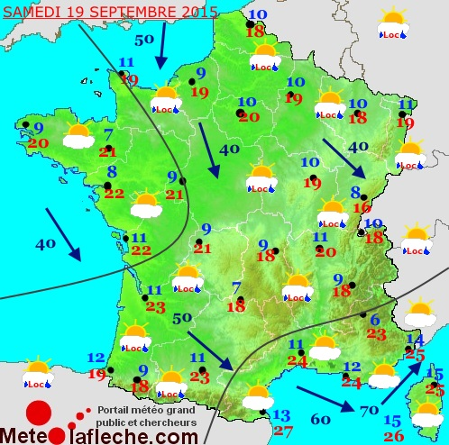 Previsions meteo � 1 jour
