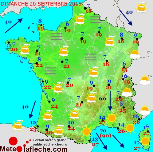 Previsions meteo � 2 jours