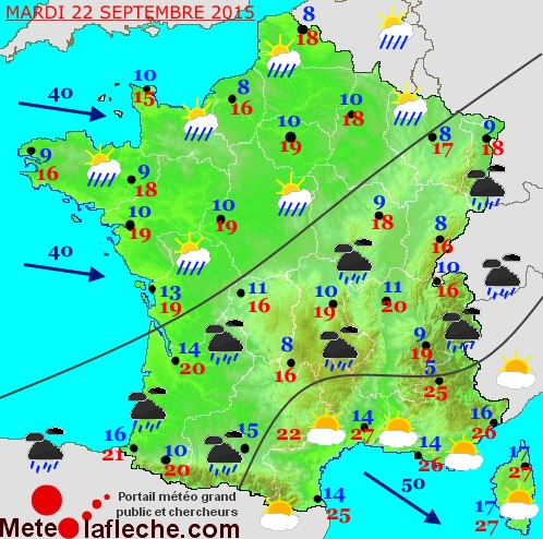 Previsions meteo � 4 jours