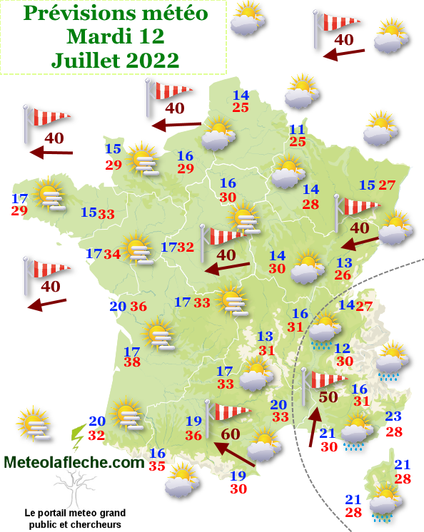 Previsions meteo france 7 et 16 jours gratuites weather for Meteo aix les s bains 5 jours