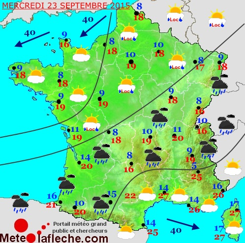 Previsions meteo � 5 jours