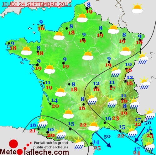 Previsions meteo � 6 jours