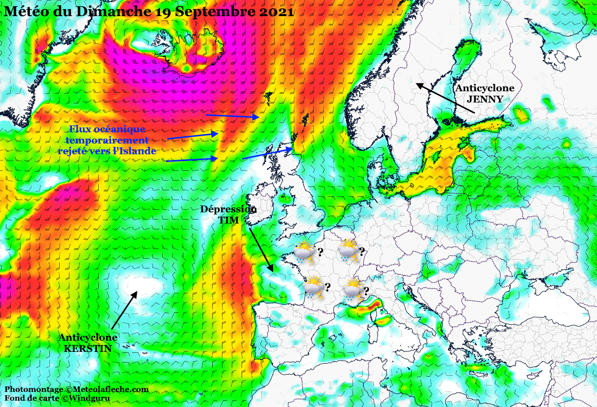 Meteo orages Europe France 19 Septembre 2021